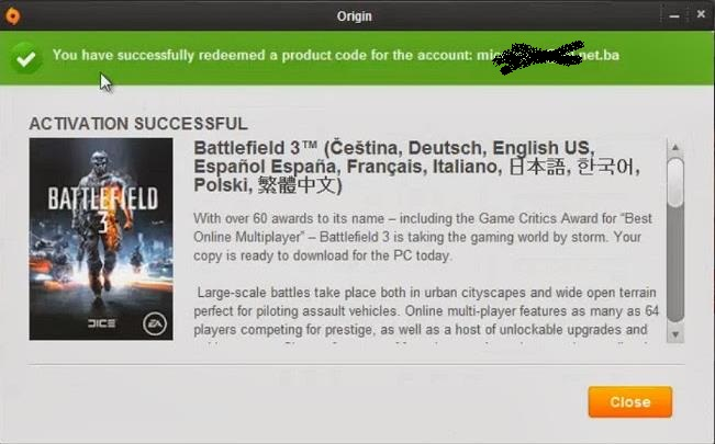 Battlefield 3 Origin Key Generator 2014