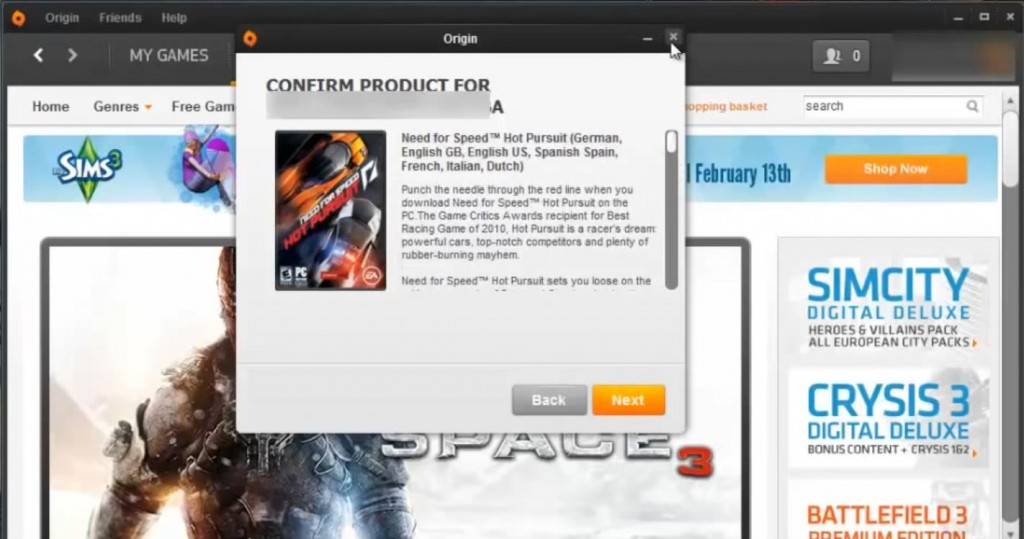 play origin games for free