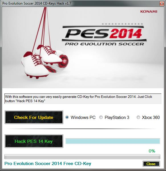 Pro Evolution Soccer 2014 CD-Key Generator
