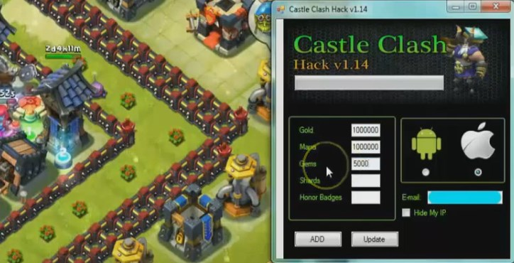 castle clash working cheat tool free download