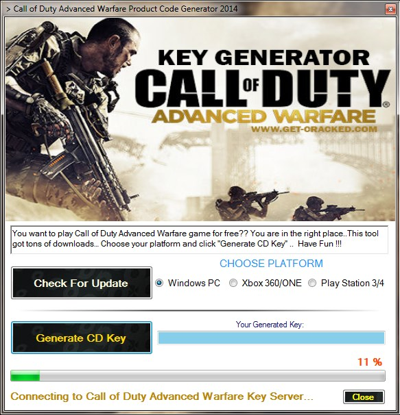 gratis steam koder for Call of Duty avanceret Warfare