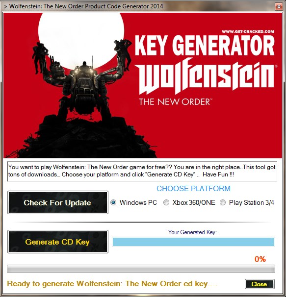 Play Wolfenstein: The New Order on Steam for FREE !!