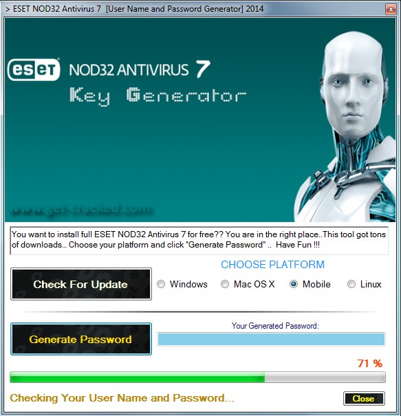 Eset Nod32 Antivirus 7 Password Generator 2014