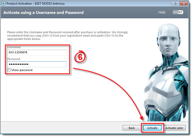 Activation ESET NOD32 Antivirus 7 for FREE