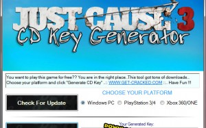 download just cause 3 and cd key generator tool