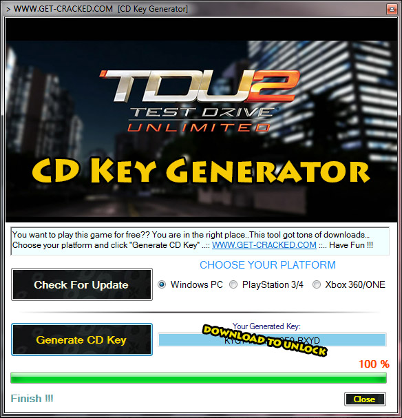 TDU 2 cd keys giveaway.. play test drive unlimited 2 for free