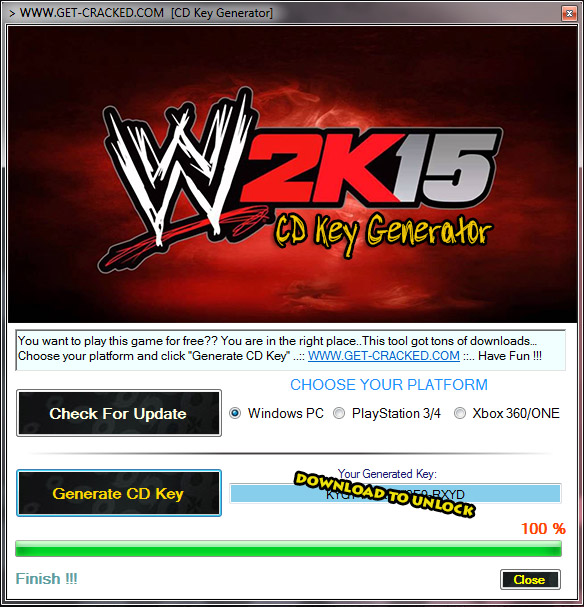 WWE 2k15 free cd key giveaway