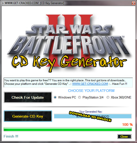 star wars battlefront III cd key giveaway