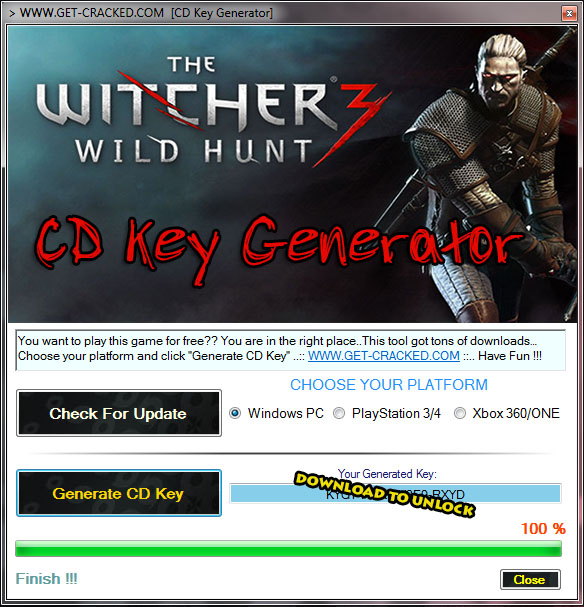 Y Witcher 3 Wild Hunt free product key .. Play this game now for free