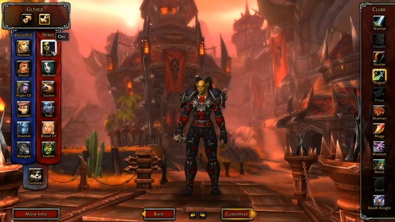 new world of warcraft expansion gameplay screenshot
