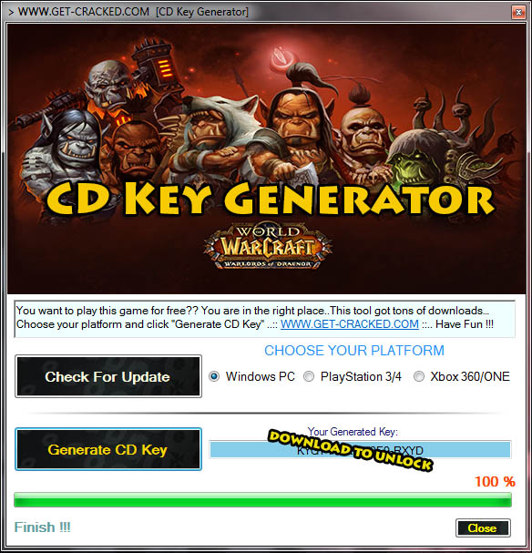 world of warcraft warlords of draenor key generator is a tool to generate free activation codes