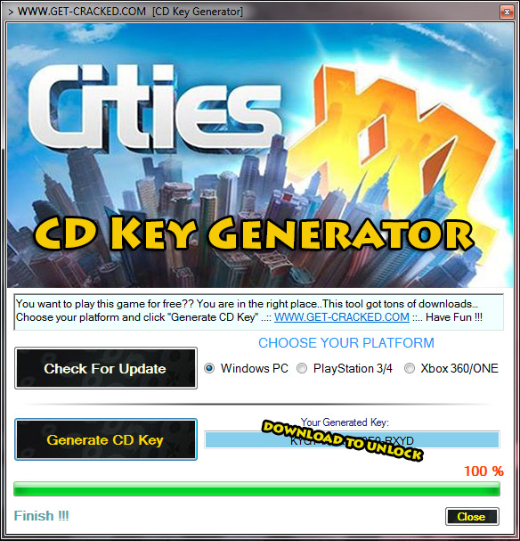 play cities multiplayer now for free, generate your own cd key