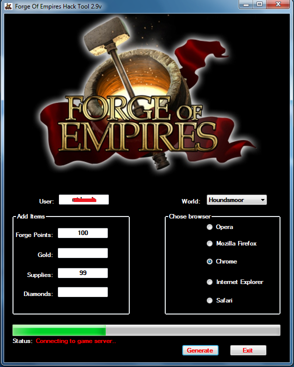 Forge of Empires Hack for Gold, Diamonds & Supplies