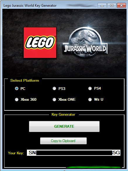 LEGO Jurassic World Vollversion mit Seriennummer