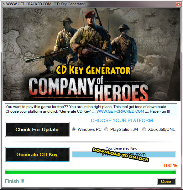 Company of Heroes free online cd key
