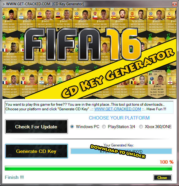 Download FIFA 16 cd nøglen generator for oprindelse platform