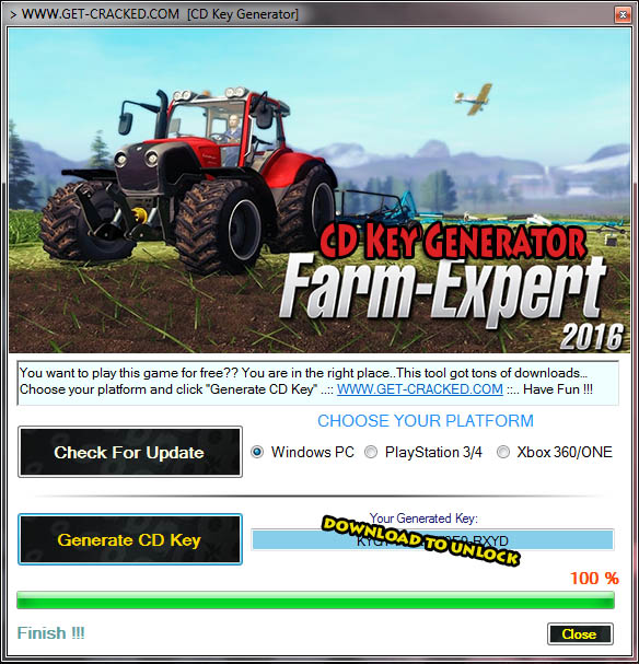 Ekspert za farmu 2016 Free CD Key for Steam