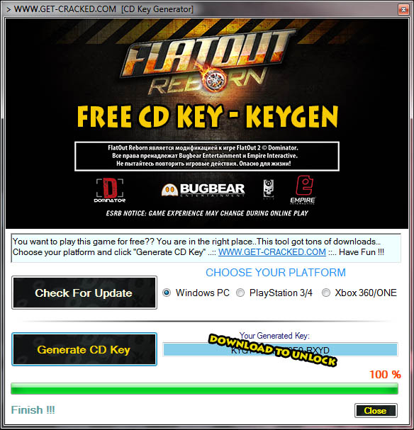 download FlatOut 2 Gjenfødt 2015 gratis cd key (aktiveringsnøkkel)