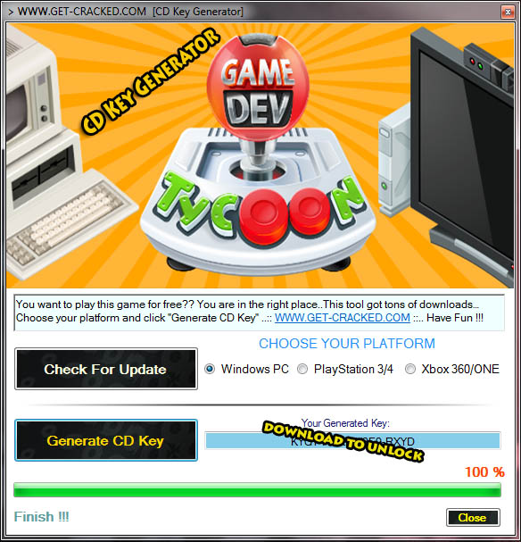 Game Dev Tycoon free cd key