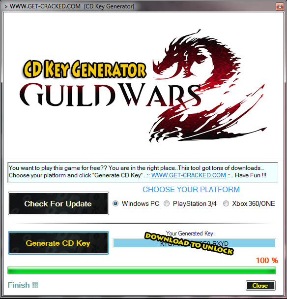 Guild Wars 2 gratis cd key (activeringscode)