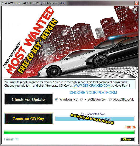 Need for Speed Most Wanted cd key giveaway