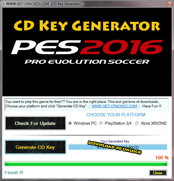 Pro Evolution Soccer 2016 CD hedelmä avain