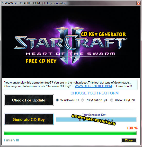 Starcraft 2 Heart of the Swarm cd key free