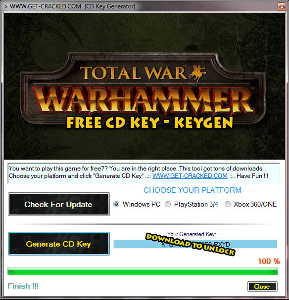 download Total War Warhammer free cd key