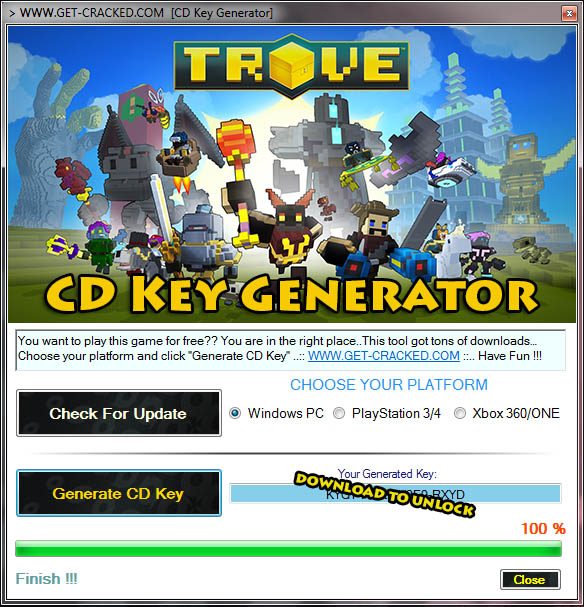 Trove gratis cd key downloaden (productcode)