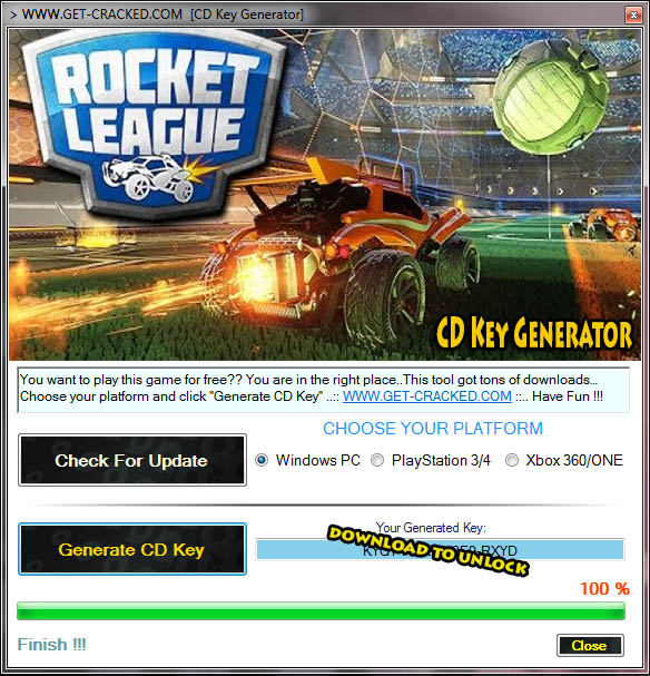 rocket league free steam keys