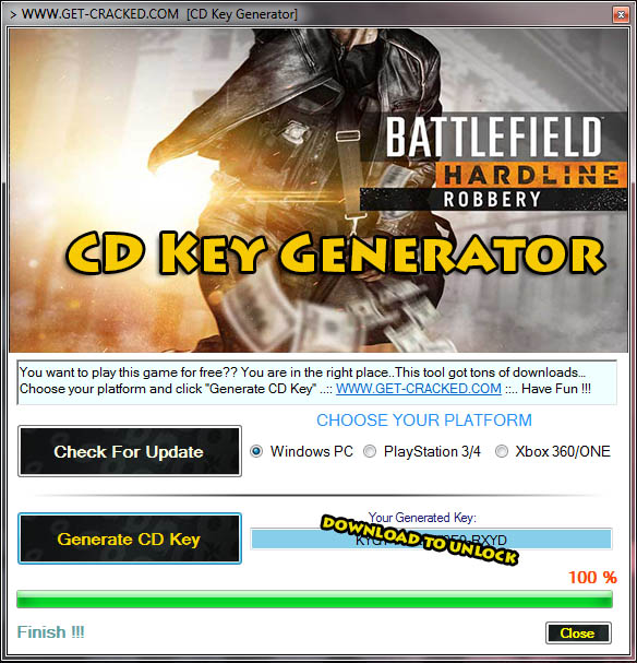 Download Battlefield Hardline Robbery DLC Key