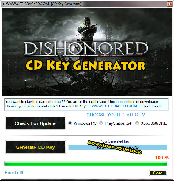 Dishonored Definitive Edition Keygen free product code