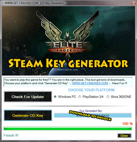 Elite Dangerous steam key giveaway