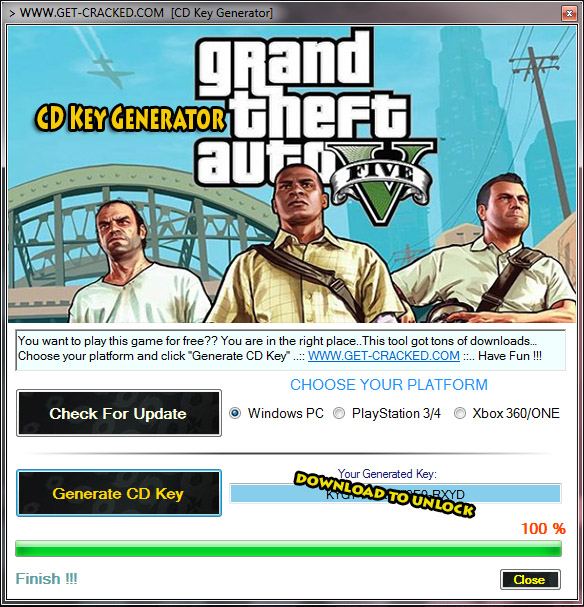 Download Grand Theft Auto V cd key generator for free