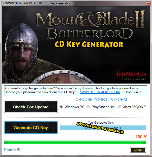 Get Mount & Blade II Bannerlord free cd key