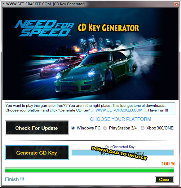 Download Need for Speed Reboot 2015 Key Generator and play this game for free