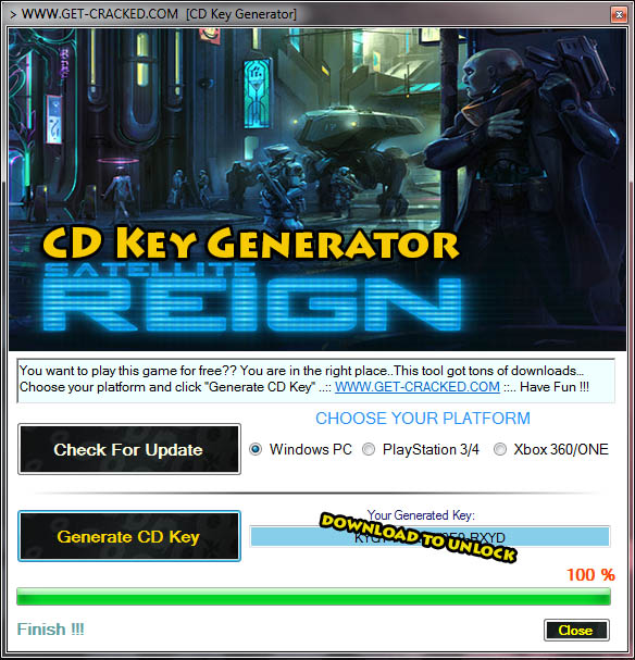 Satellite Reign free steam keygen product code