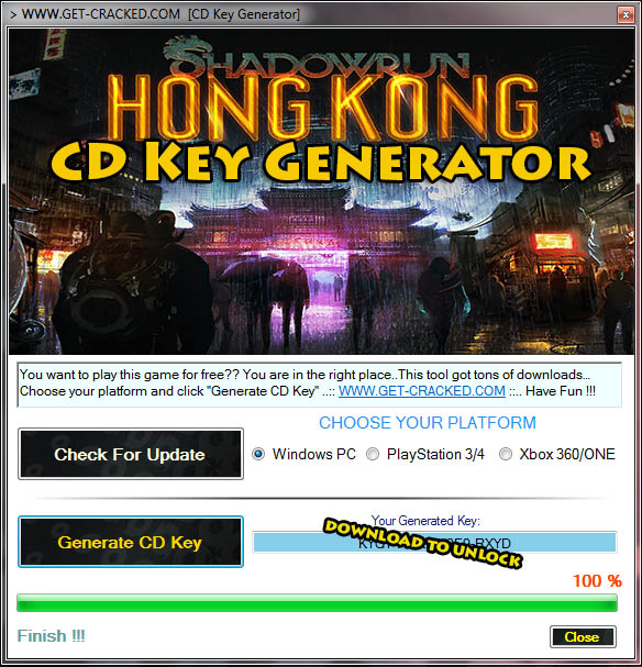 Shadowrun Hong Kong free license key code