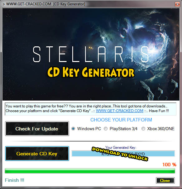 download Stellaris free cd key generator