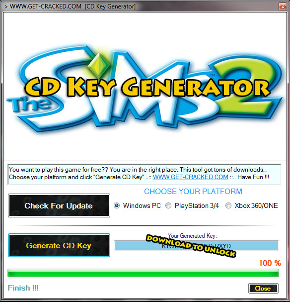 download sims 2 klucz generator cd