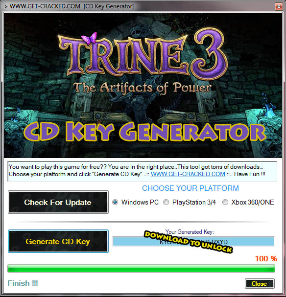 Trine 3 The Artifacts of Power free activation key code