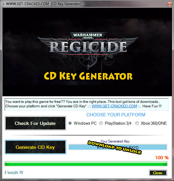 ウォー ハンマー 40,000 Regicide free steam keygen activation code