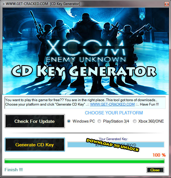 Download XCOM Enemy Unknown CD Key Generator