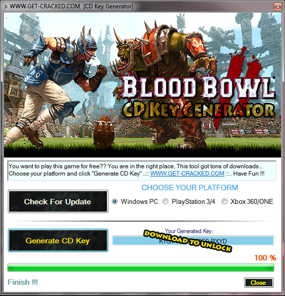 Blood Bowl 2 free activation key