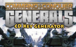 Command and Conquer Generals fri aktiveringskoden