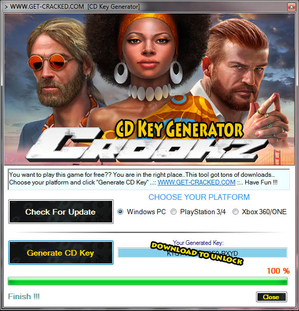 download Crookz key generator for free