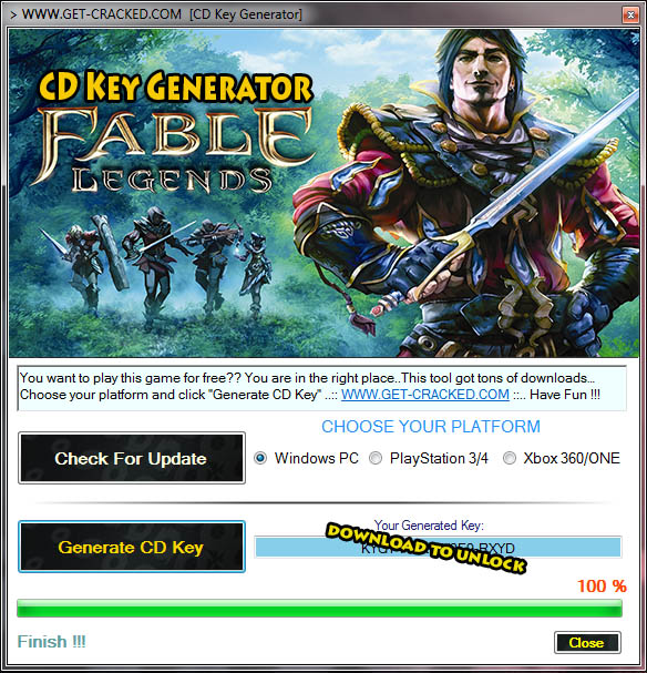 Fable Legends free key code list 2015