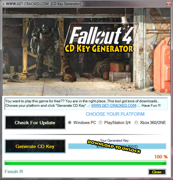 Fallout 4 CD Key Download (Keygen)
