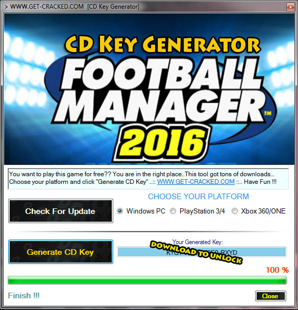 Football Manager 2016 CD ключ giveaway