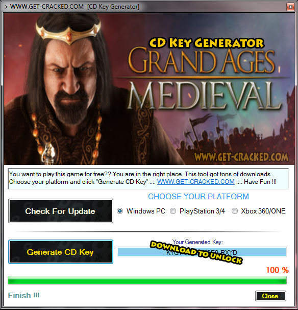 Grand Ages Medieval free activation key
